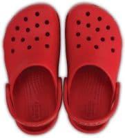 Crocs Kids Classic Clog Childrens Beach Pepper Red